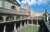 Roman Baths. Bath. England. UK.