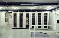 Server room of internet hub DECIX in Frankfurt. Germany