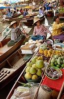 Floating market. Damnoen Saduak, Thailand