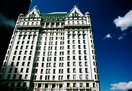 View of the Plaza Hotel in Midtown Manhattan. New York city, New York. USA
