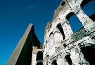 Coliseum with beautiful blue sky. Rome. Italy