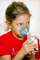 Girl using humidifier