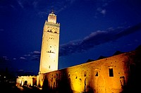 Koutoubia Mosque at night. Marrakech. Morocco