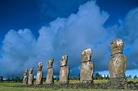 Ahu Akivi. Easter Island. Chile.