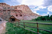 Barn. Fruita Historical District. Capitol Reef National Park. Utah. USA