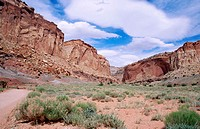 Grand Wash. Capitol Reef National Park. Utah. USA