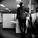 man using photocopier