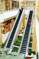 Escalator and skywalk