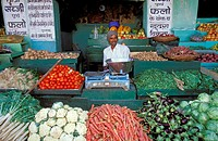 Vegetables at a market stand. Rajasthan, India