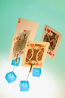 Playing cards in card holders
