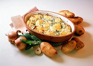 Potato casserole with sage