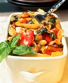 Rigatoni and vegetable bake