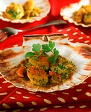Scallops ´a la veneziana´ (breaded and fried)