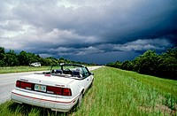 Storm in the Everglades. Florida, USA