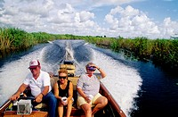 Boat ride on Lake Okeechobee, The Everglades, Florida. USA.