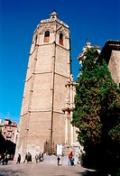 'Miquelet' or 'Miguelete' tower (built in 14th century), gothic cathedral. Valencia. Spain