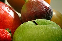 Food, fruit, green apple