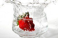 Liquid, water, strawberry, cup
