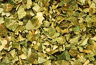 Dried blackberry (Rubus sp.) leaves. The root and leaves are used medicinally as a remedy for diarrhea. Externally, they may be used as a gargle to tr...