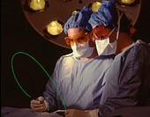 Laser surgery.
