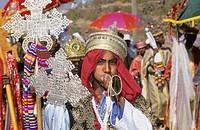 Timkat, Epiphany holiday. Lalibela. Ethiopia.