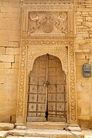Fort, palace, door, Jailsalmer, Rajasthan, India