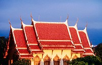 Ornate Thai building in Chiang Mai. Thailand