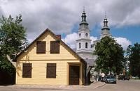 Church, Zemaiciu Kalvarija. Lithuania.