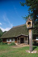 Village buildings. Open Air Museum, XVIIIth-XIXth centuries. Rumsiskes near Kaunas. Trakai. Lithuania.
