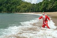 Weihnachtsmann in den Fluten