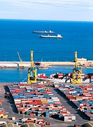 Port of Barcelona. Spain