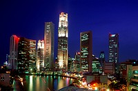 City, Clarke quay, Financial district, Holiday, Landmark, Night, River, Singapore, Asia, Skyline, Tourism, Travel, Vacation, Vie
