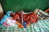 AIDS, TREATMENT<BR>Photo essay.<BR>Hospitalization of HIV+ patient in Bamako, Mali in Africa.