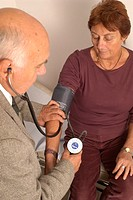 BLOOD PRESSURE, ELDERLY PERSON<BR>Models.