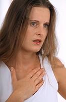 ASTHMA, WOMAN<BR>Model.