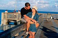couple on a fishing pier