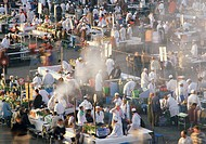 Busy Food Market, Marrakesh, Morroco