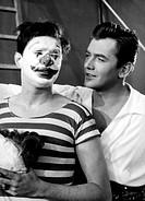 Film, ´Geliebte Bestie´ BRD / Österreich 1959, Regie: Arthur Maria Rabenalt, Szene mit: Walter Giller, Gerhard Riedmann  auch hippodrome, das mädchen ...