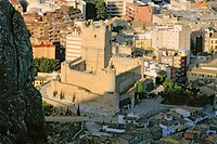 Village and castle. Villena. Alicante. Spain