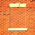 Brick covered window