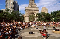 Washington square. New York city. USA.