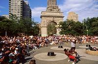 Washington square. New York city. USA.