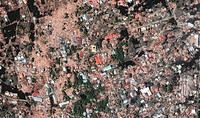 After tsunami. Image 2 of 2. Satellite image of part of the coastal city of Banda Aceh, Indonesia, on 28 December 2004. The destruction seen here was ...