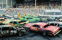 Demolition derby is a crowd favourite. Delaware state fair. USA