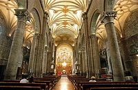 Interior of cathedral. Jaca. Huesca province, Spain