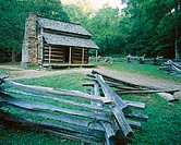 John Oliver Cabin. Cades Cove. Great Smoky Mountains National park. Tennessee. USA.