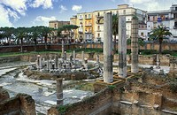 temple of serapides, pozzuoli, italy