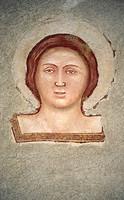 san pancrazio church frescoes, montichiari, italy