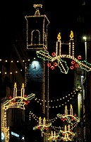 christmas lights, alzano lombardo, italy