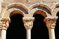 Church, exterior detail. Valtierra de Albacastro. Burgos province, Spain